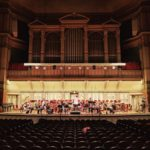 Rehearsing with the Albany Symphony Orchestra in Troy Savings Bank Music Hall, March 2017